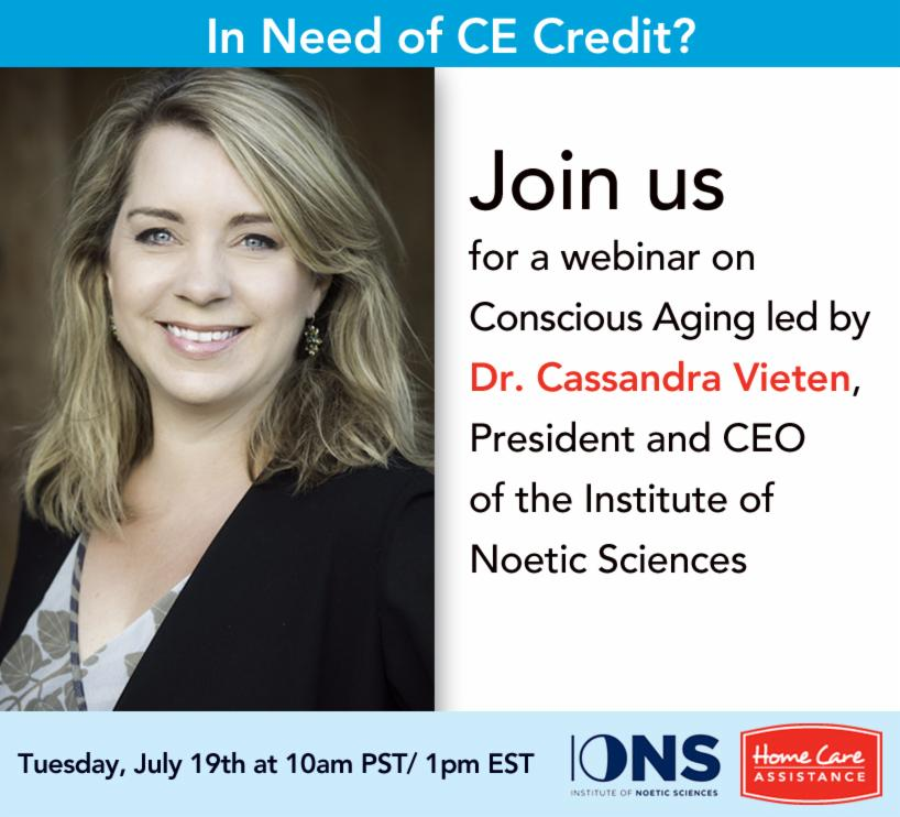 Dr. Cassandra Vieten on Conscious Aging