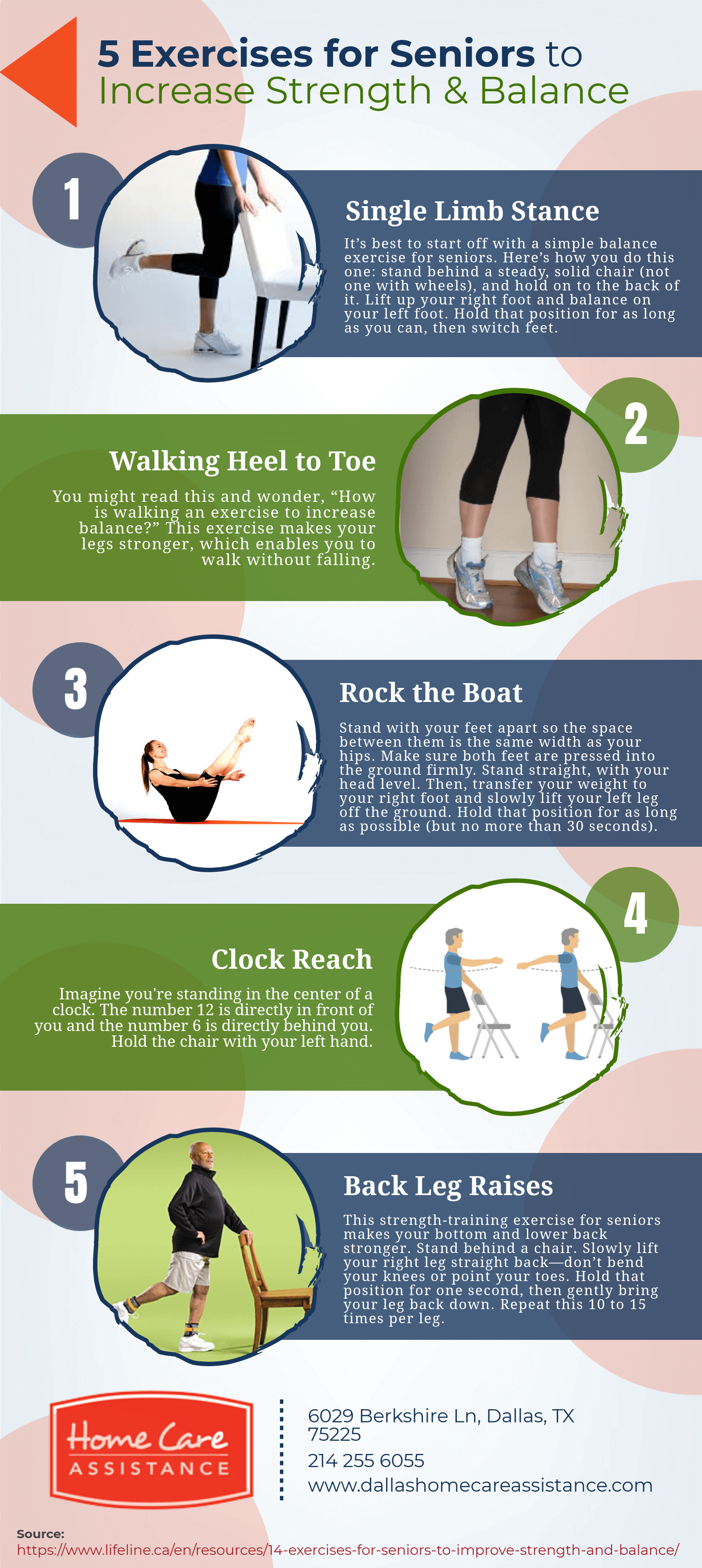 5 Strength & Balance Exercises for Seniors [Infographic]